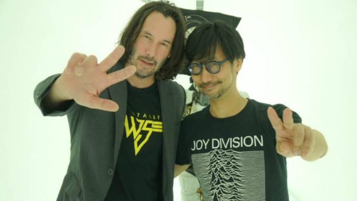 Kojima and Keanu Reeves