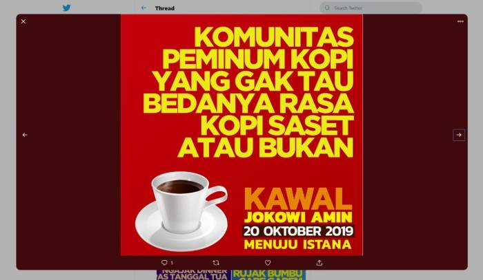 Meme kawal Jokowi - Amin