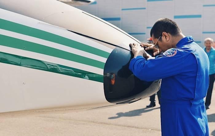 Pesawat NC212i produksi PTDI diterbangkan menuju Thailand. (Dok PTDI)