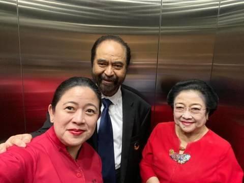 Puan Maharani swafoto dengan Surya Paloh dan Megawati Soekarnoputri (Instagram/@puanmaharaniri).