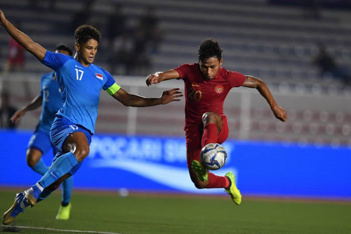 Pemain Timnas Indonesia U-23 Osvaldo Haay