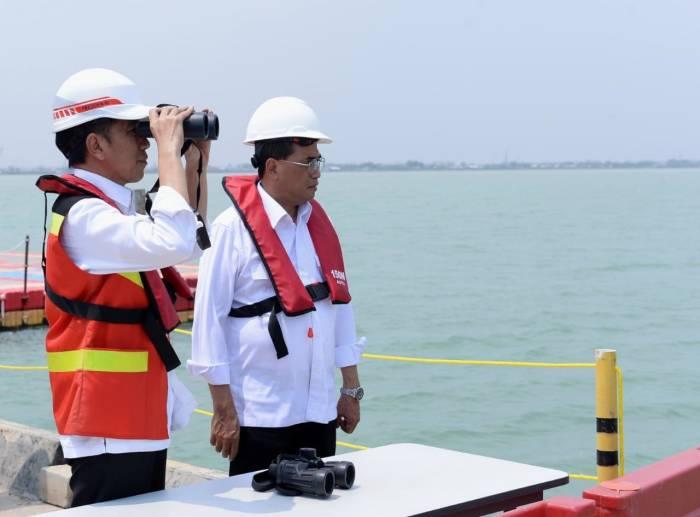 presiden jokowi, menhub, budi karya sumadi, pelabuhan patimban