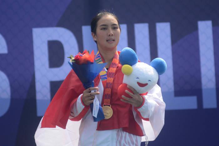 emas sea games 2019, petenis putri, Aldila Sutjiadi, sea games 2019