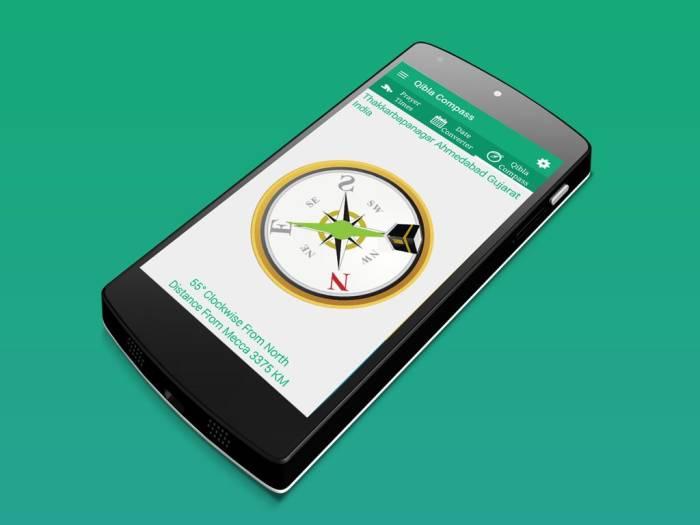 aplikasi arah kiblat Qibla Compass