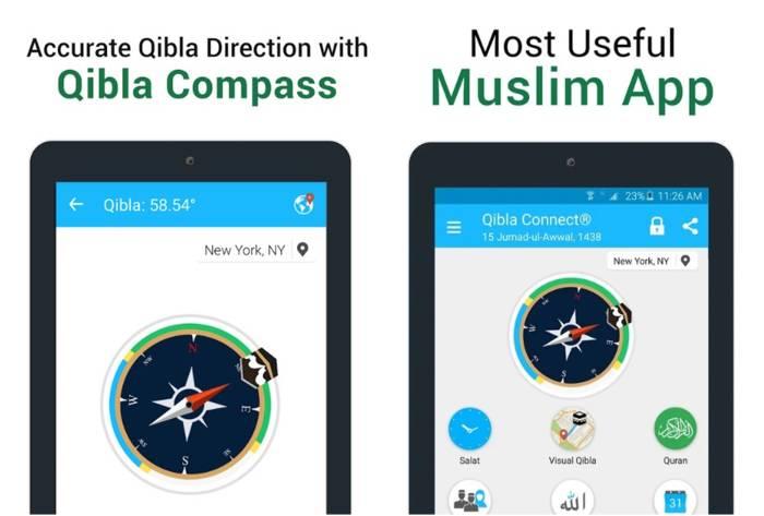 Qibla Connect Find Direction Prayer, Azan, Quran