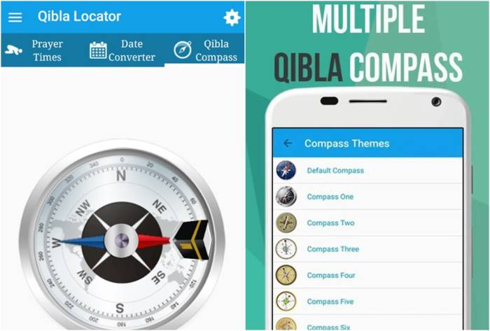aplikasi penentu arah kiblat Qibla Locator
