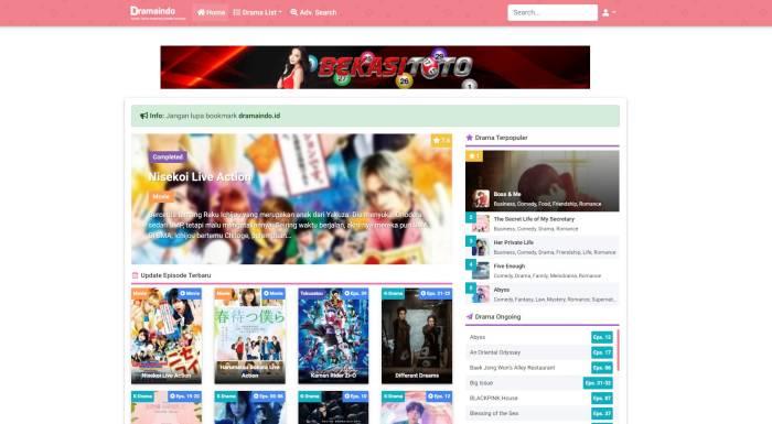 Situs nonton streaming Korea Dramaindo