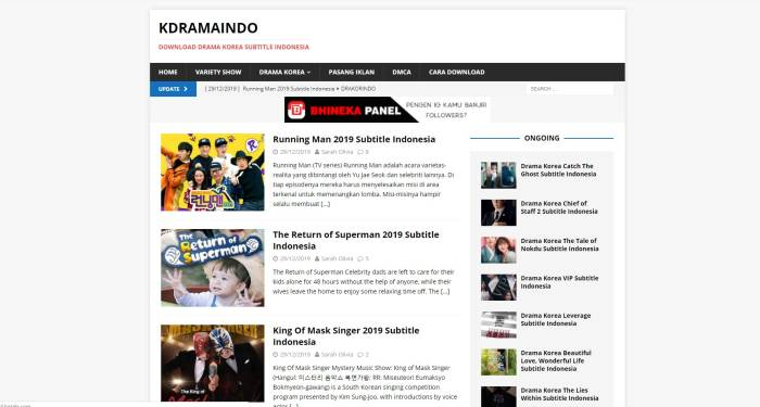 situs KDramaIndo streaming drama korea sub Indonesia