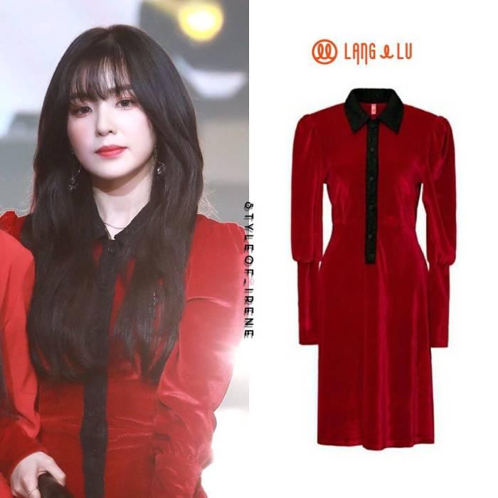 outfit irene red velvet