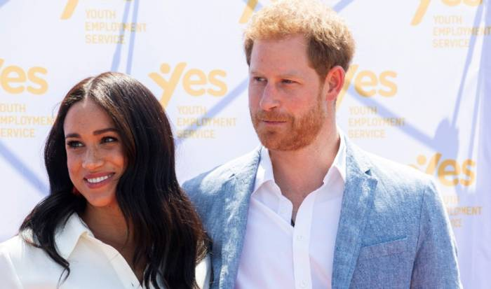 Meghan Markle dan Pangeran Harry (REUTERS/Pool/Facundo Arrizabalaga)