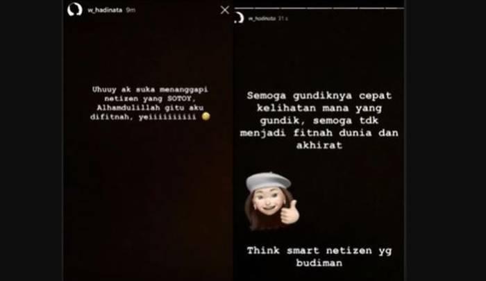 Klarifikasi Siwi Sidi di Instagram miliknya (Instagram/@w_hadinata)