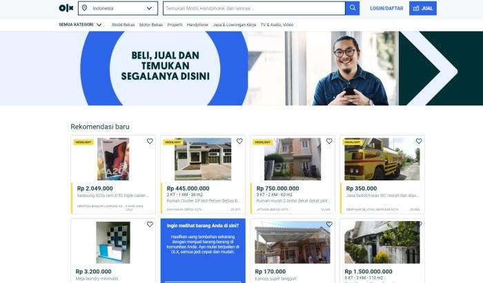 Situs jual beli rumah dan properti OLX di Indonesia