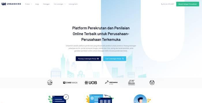 Situs lowongan kerja terbaik dan terpercaya UrbanHire