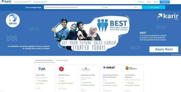 Situs lowongan kerja terbaik dan terpercaya Karir.com