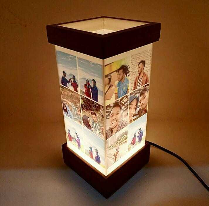 hadiah valentine romantis lampu acrylic
