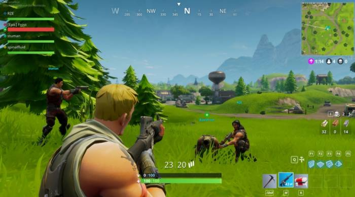 Gameplay game Fortnite Battle Royale