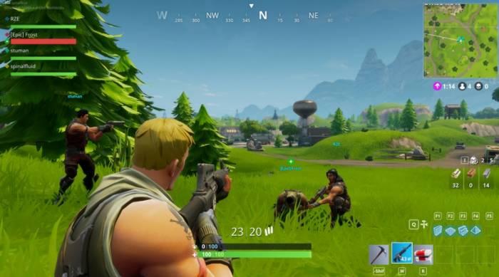 Gameplay game Fortnite Battle Royale