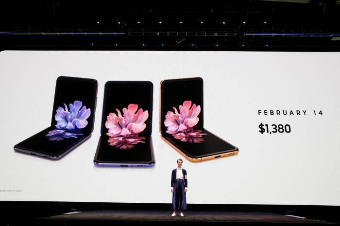 Samsung Galaxy Z Flip saat diumumkan di acara Galaxy Unpacked