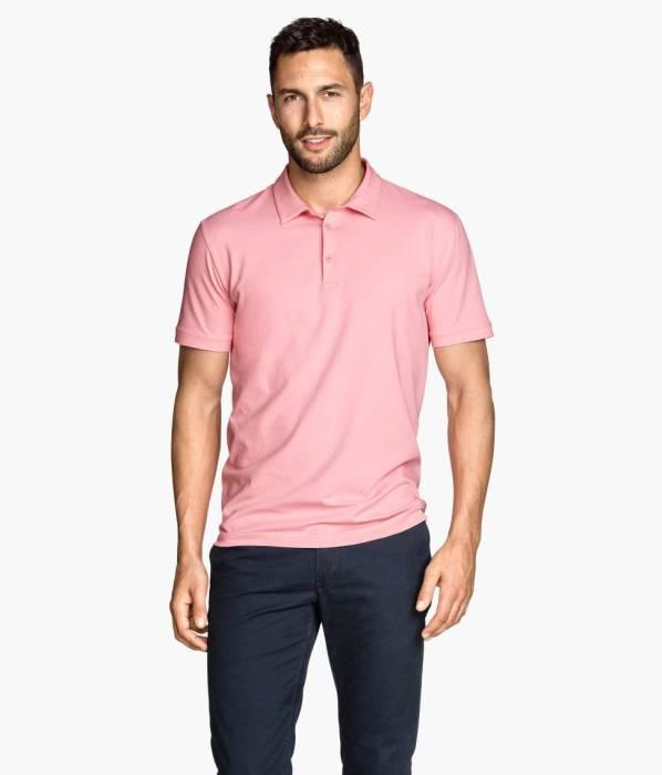 perpaduan baju warna pink pria