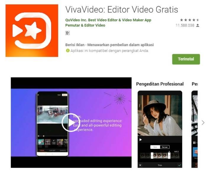 Aplikasi edit video di smartphone VivaVideo