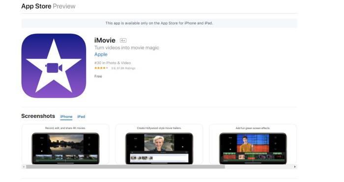 Aplikasi edit video smartphone iMovie