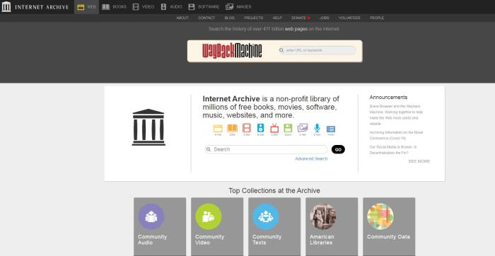Platform streaming film terbaik Internet Archive