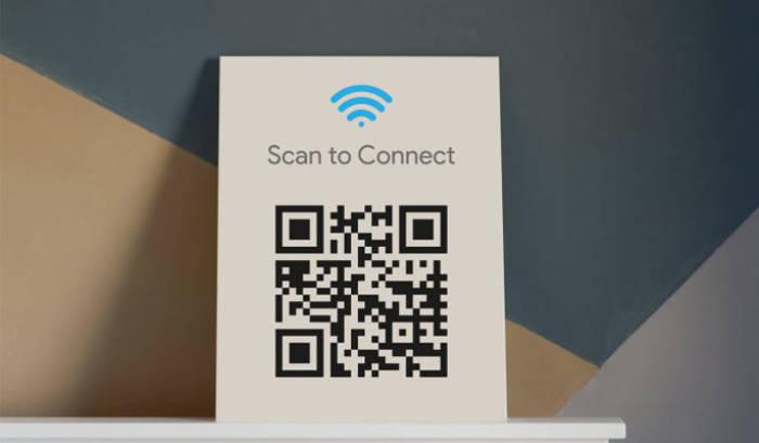 Fitur QRCode untuk koneksi WiFi gratis