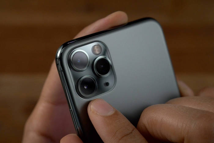The rear camera of the iPhone 11 Pro