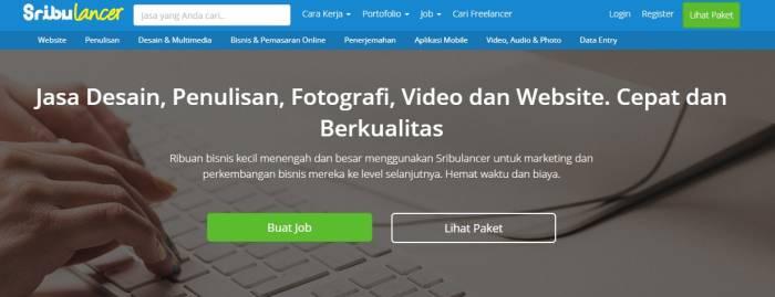 Situ kerja freelance populer SribuLancer