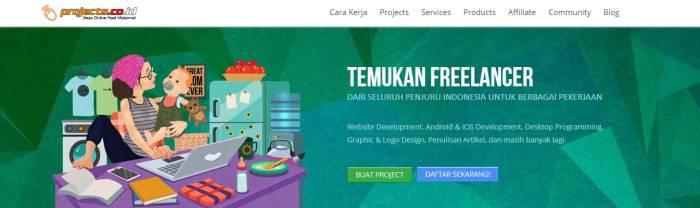 Situs lowongan kerja freelance Projects