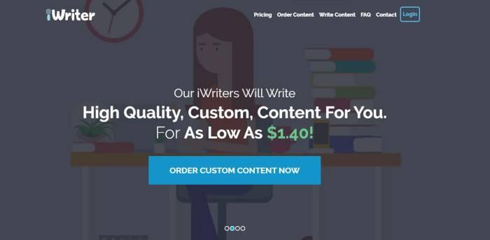 Situs kerja online freelance iWriter