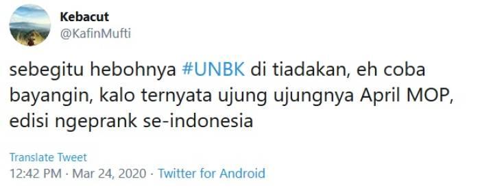 UN Ditiadakan, Begini Reaksi Kocak Netizen