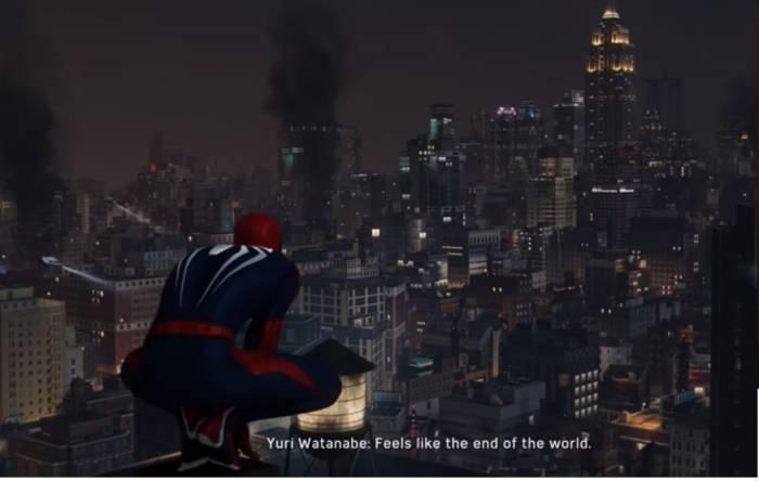 Cuplikan adegan di game Marvel