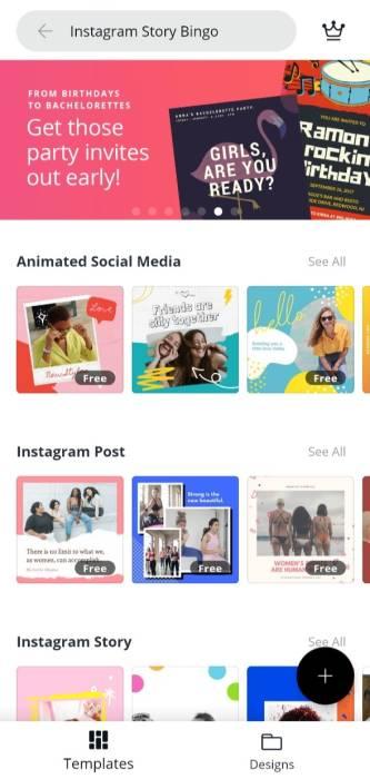 Cara Buat Template Instagram Bingo Lewat Smartphone