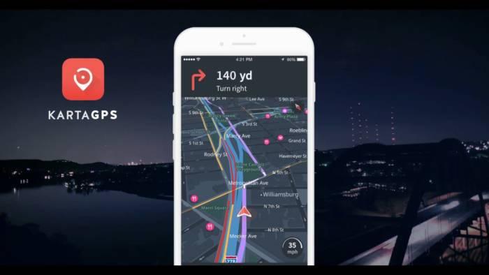 Aplikasi maps offline terbaik smartphone Karta GPS