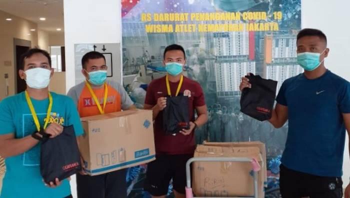 Atasi Corona, Tim Medis di RS Darurat Wisma Atlet Terima Bantuan untuk Relaksasi