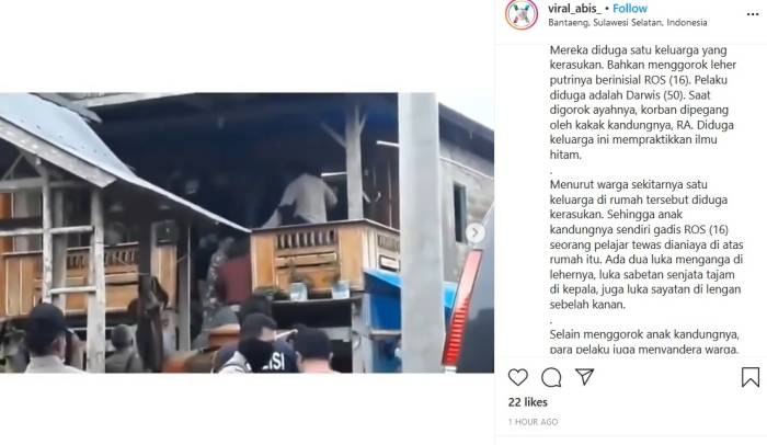 Viral,Pembunuhan,Sulawesi