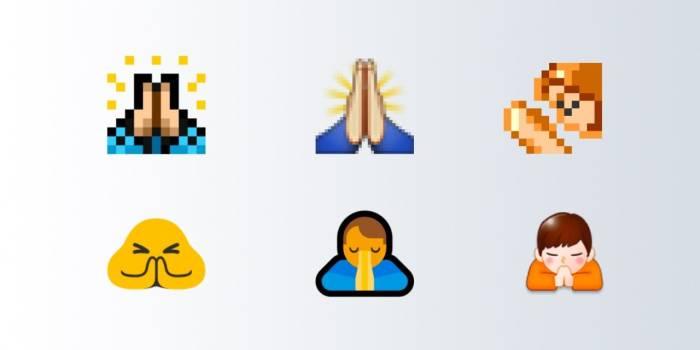 Emoji dua tangan bersatu