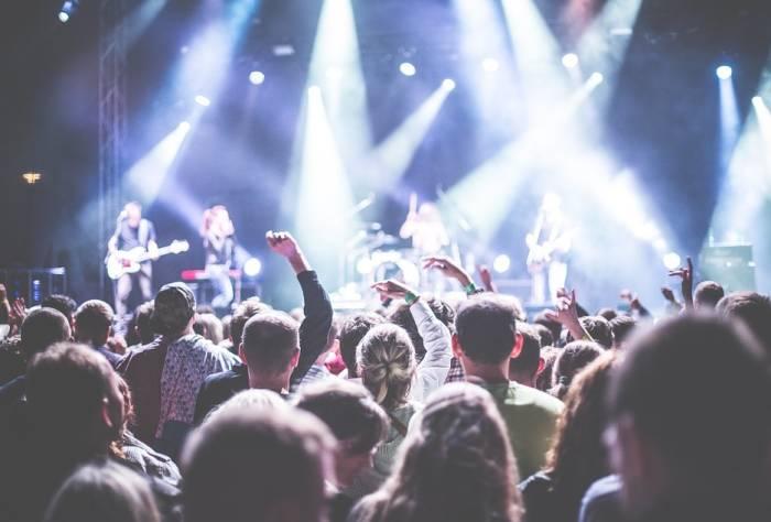 Ilustrasi konser musik.