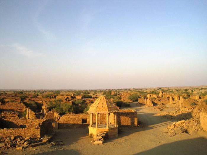 Desa kuno Kuldhara, kota hantu di Rajasthan, India