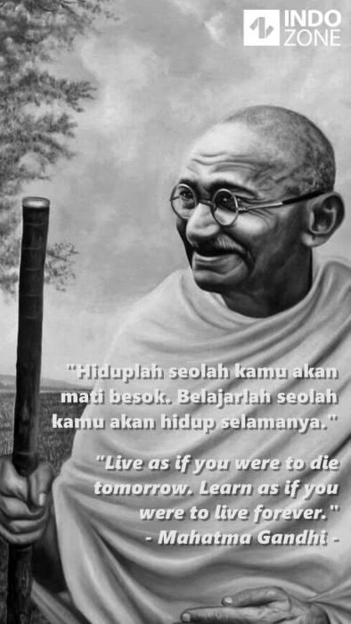 Kumpulan Quotes Dan Kata Bijak Mahatma Gandhi Paling Inspiratif Tentang Kehidupan Indozone Id