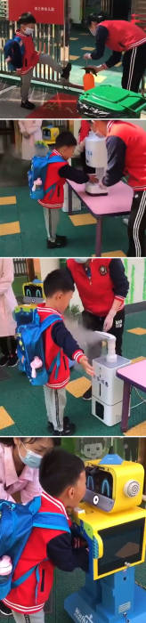 Pelaksanaan protokol kesehatan di sekolah di Tiongkok