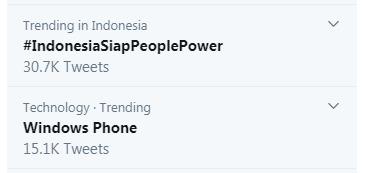 Trending Topic di Twitter