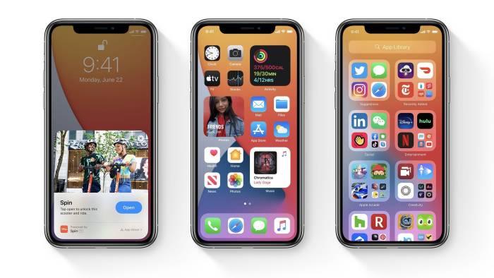Tampilan iOS 14 di iPhone