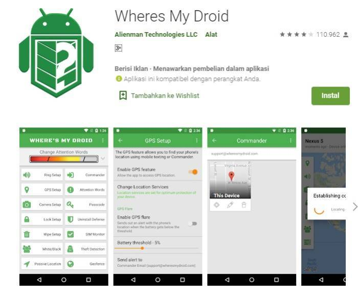 aplikasi pencari ponsel smartphone hilang