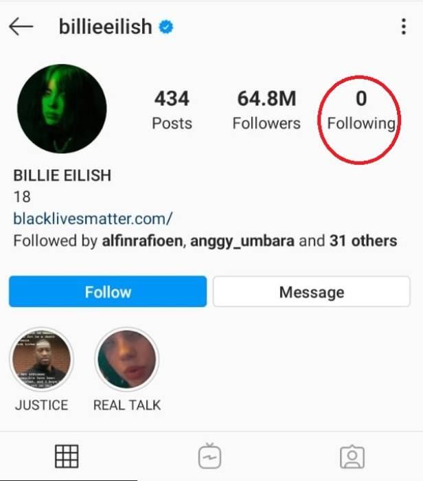 Musisi pemenang Grammy Awards Billie Eilish.