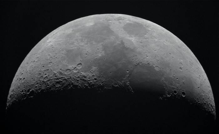 Foto permukaan Bulan