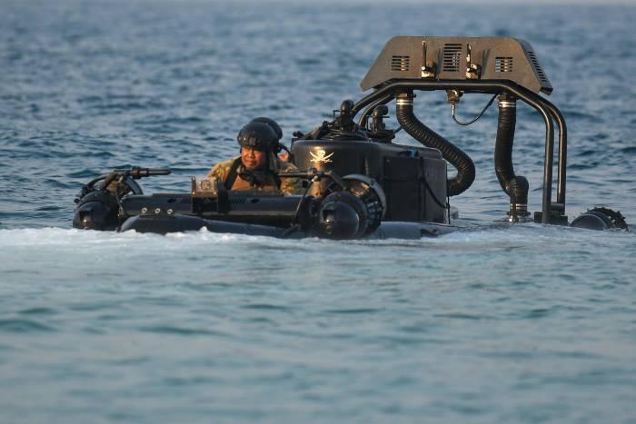 Kopaska, latihan perang kopaska, Latihan Peperangan Laut Khusus 2020, pulau damar, kepulauan seribu, Satuan Komando Pasukan Katak (Satkopaska) Koarmada I, Koarmada I, TNI AL
