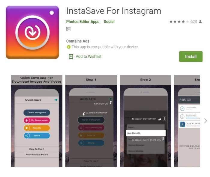 cara download video Instagram dengan aplikasi
