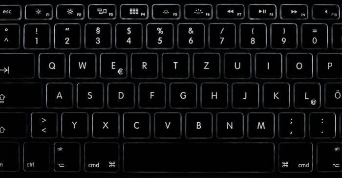 Keyboard di laptop MacBook buatan Apple